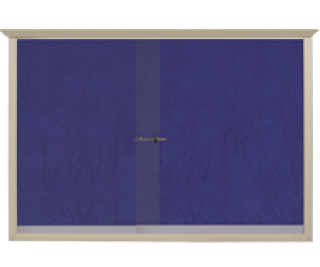 Ahşap Camekanlı, 60 x 90 Kumaşlı Pano